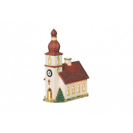 Porcelánový kostel 14x8x21cm