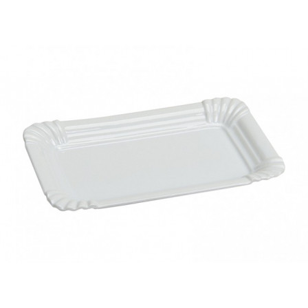 Servírovací talíř bílý 20x13x2cm