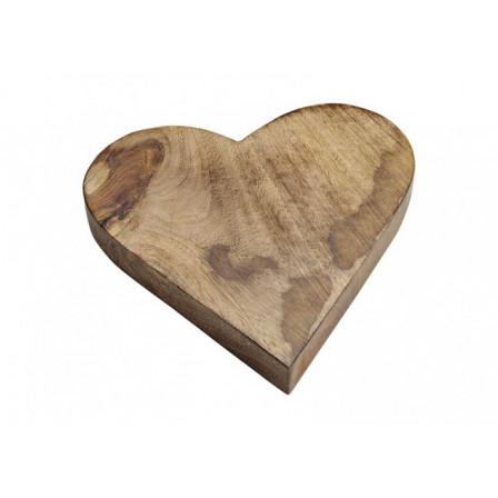 Srdce ze dřeva 26x4x26cm
