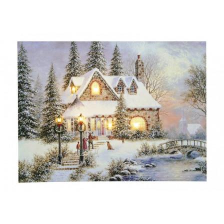 LED Obraz Vánoční motiv