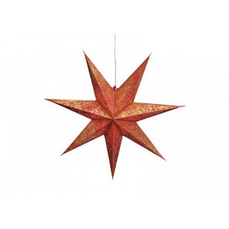 Svítící hvězda papírová sedmicípá 60cm