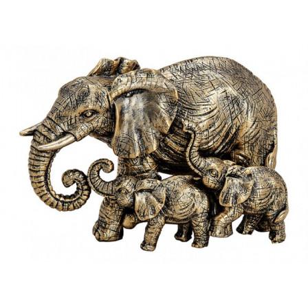 Sousoší tří slonů Polyresin 13x8x7cm