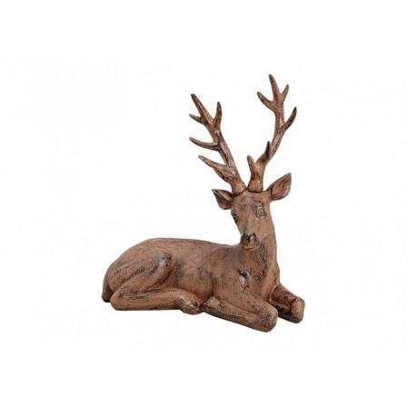 Ležící jelen hnědý 32x34x15 cm