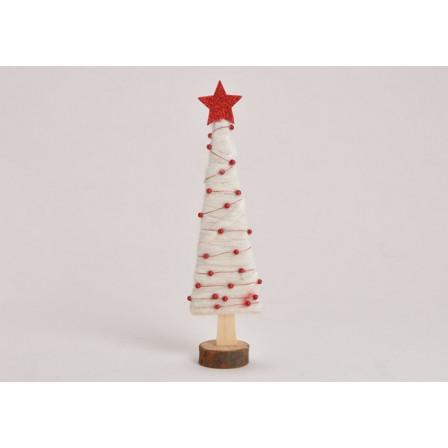 Dřevěný stromek - jedle 8x32x5 cm