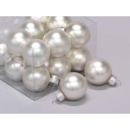 Vánoční skleněné ozdoby 18ks stříbrná 3cm