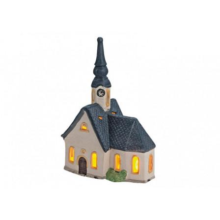Kostel porcelán B13 x T9 x H20 cm