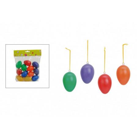 Vajíčka plastová barevná 12ks