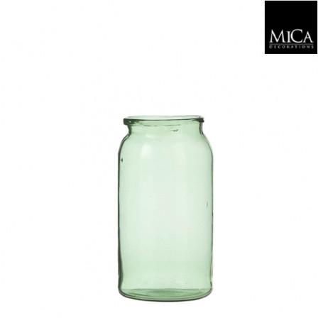 Skleněná váza Vienne zelená 20x11cm