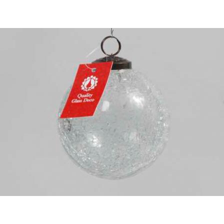 Vánoční  koule praskaná čirá 10cm