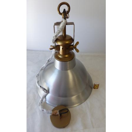 Stropní světlo stříbro/mosaz 46,58cm 1,2mkabel