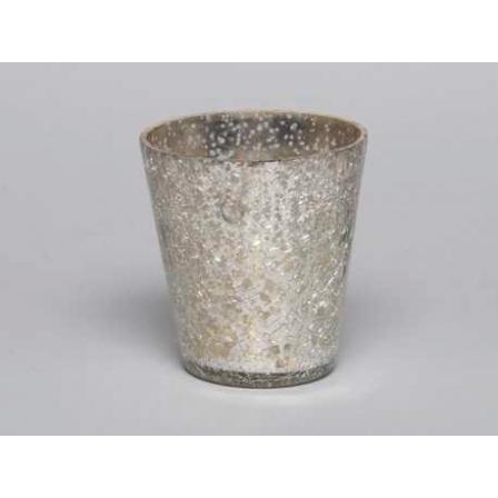 Svícen na čajovou svíčku stříbrný 8x8cm