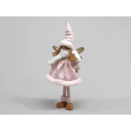 Figurka Anděl růžový 38cm