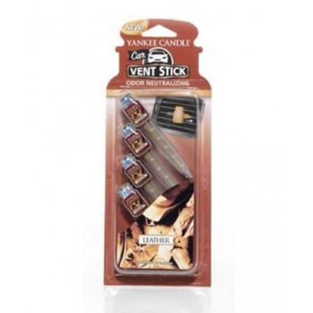 YANKEE CANDLE kolíčky do auta - Leather 4ks