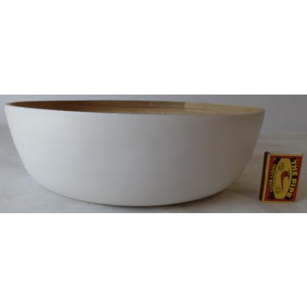 Mísa XL bílá bambusová 30x10cm