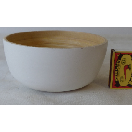 Mísa S bílá bambusová 14x7,5cm
