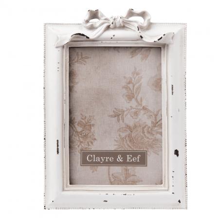 Fotorámeček bílý, mašle 14x21 cm