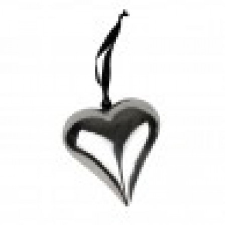 Kovové srdce pro zavěšení stříbro, ocel 13x15cm
