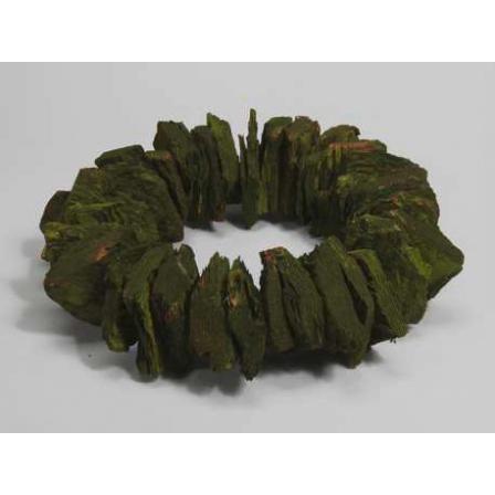 Dekorace kůrový věnec zelený pr.38cm