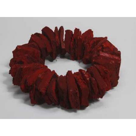 Dekorace kůrový věnec červený pr.38cm