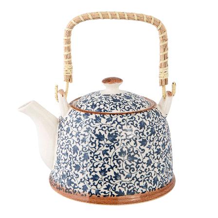 Čajová konvička 0,7 l, modrobílá