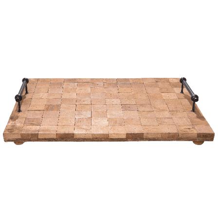 Dřevěný podnos kostky