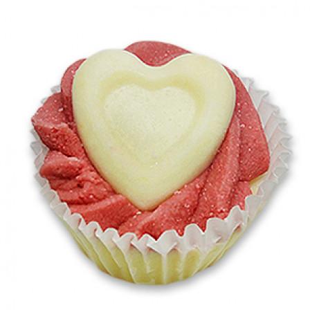 Dortík do koupele- Cupcake 45g bílé srdce