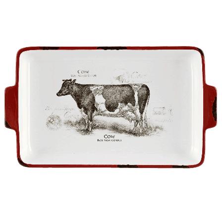 Miska, kráva, 31 cm