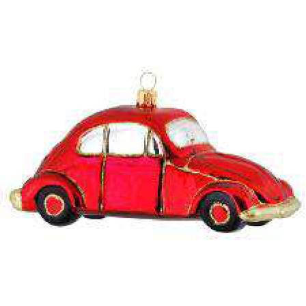 Skleněná ozdoba brouk auto 7 cm