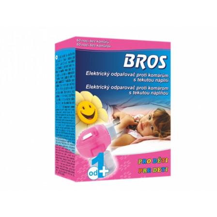BROS-elektrický odpařovač proti komárům + tekutá náplň - pro děti na 60nocí