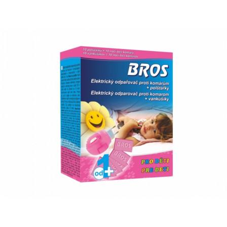 BROS-elektrický odpařovač proti komárům - polštářky 10ks pro děti
