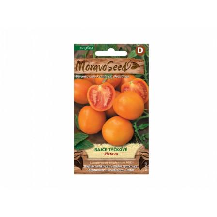Rajče tyčkové oranžové ZLATAVA