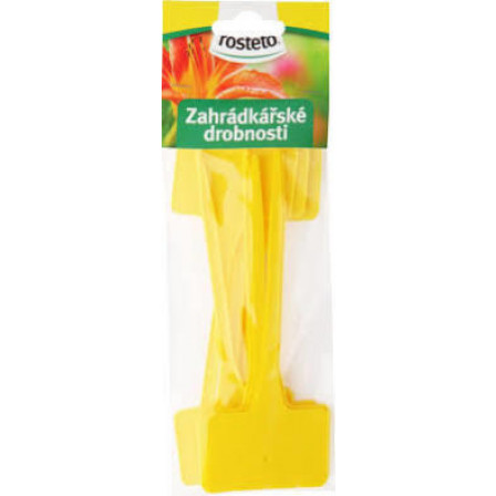 Jmenovka Rosteto 15 cm 10 ks/ plastová žlutá