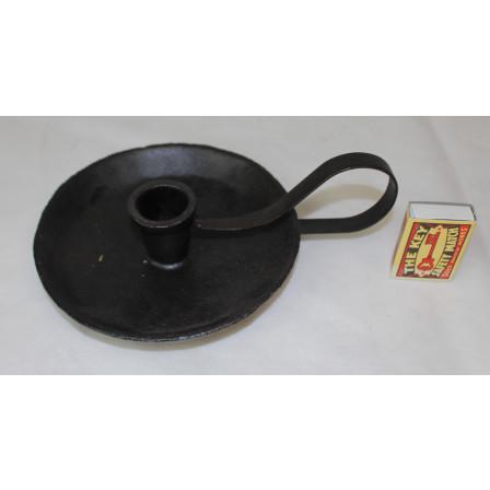 Svícen kulatý černý litina 5x20,5x16cm