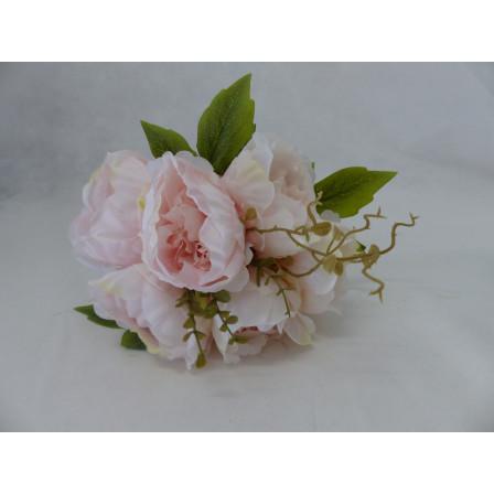 Umělý květ kytice Pivoňka lososová