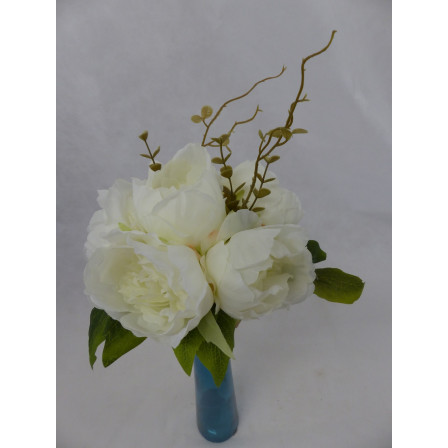 Umělý květ kytice Pivoňka bílá