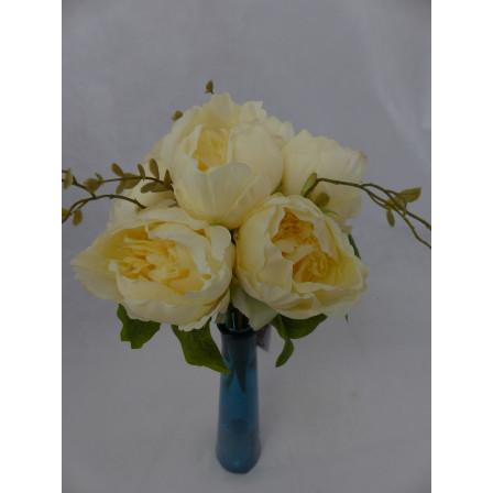Umělý květ kytice Pivoňka žlutá