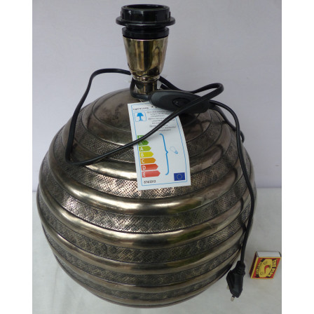 Podstavec lampy bez stínidla stříbrná pruhovaný