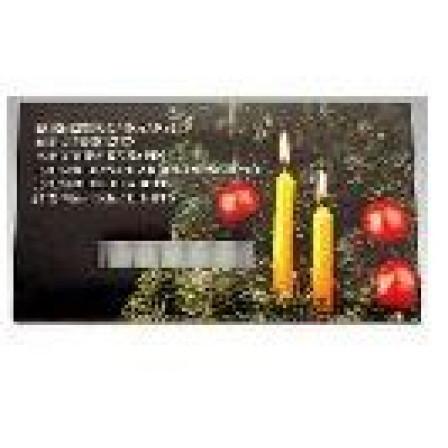 Vánoční svíčky sada 15 kusů, bílá