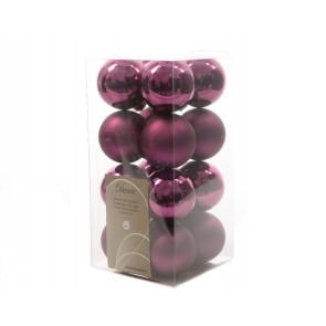 Vánoční ozdoby 16ks fialové