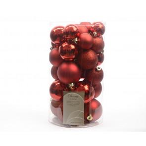 Vánoční ozdoby 30ks červené