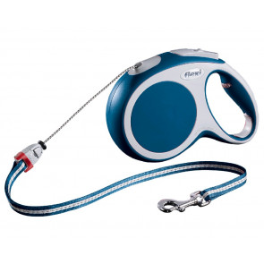 Samonavíjecí vodítko Flexi Vario M, modré lanko