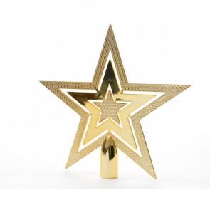 Vánoční špička hvězda zlatá