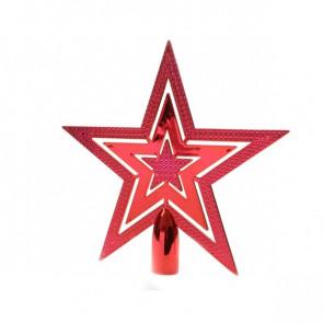 Vánoční špička hvězda červená