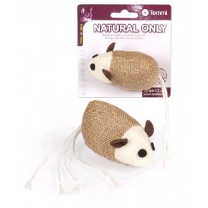 Natural Only - myška hnědá s bílým ocáskem, 8cm