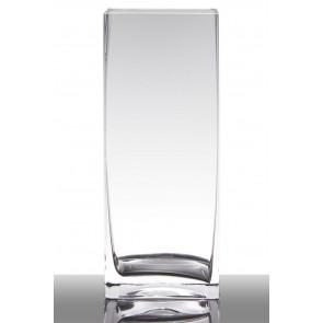 Skleněná váza  čtvercová L14 W14 H49