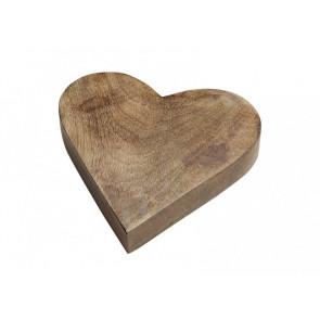 Srdce ze dřeva 20x4x20cm