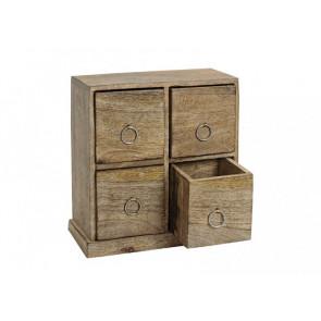 Dřevěná dekorační skříňka
