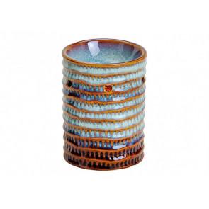 Aromalampa keramická modrohnědá