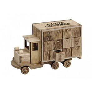 Adventní kalendář náklaďák dřevěný 29x10x19cm
