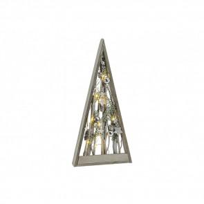 Dřevěná svítící pyramida 26x5x55cm GWU